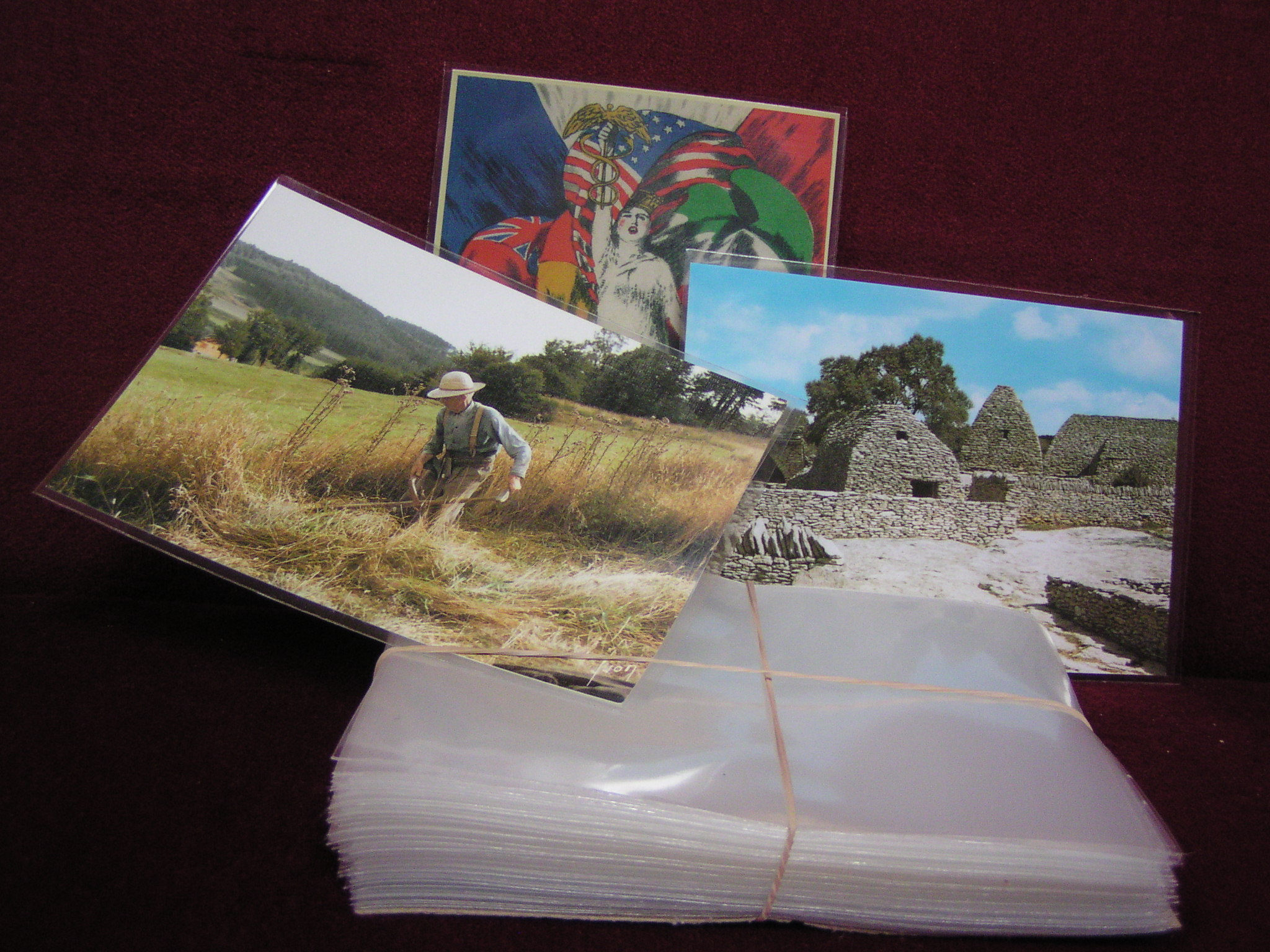 1000 Etuis Cartes Postales Modernes 100 Microns Protect 39 Collections
